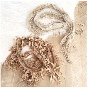 Bundle of 2 Lace Scarves